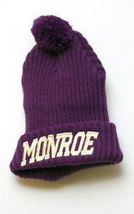Monroe Purple Bobble Beanie Hat   eBay