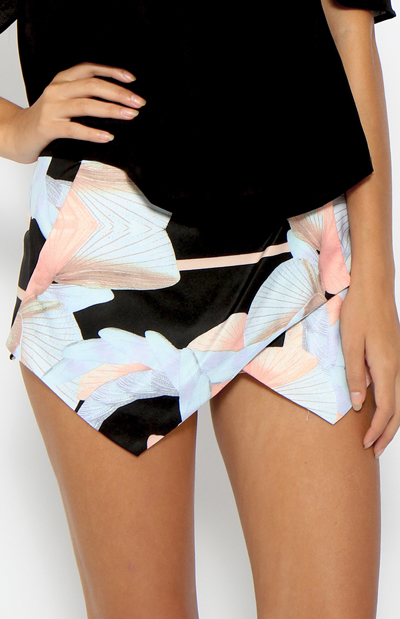 Plume Skort - Print | Back In Stock | Clothes | Peppermayo