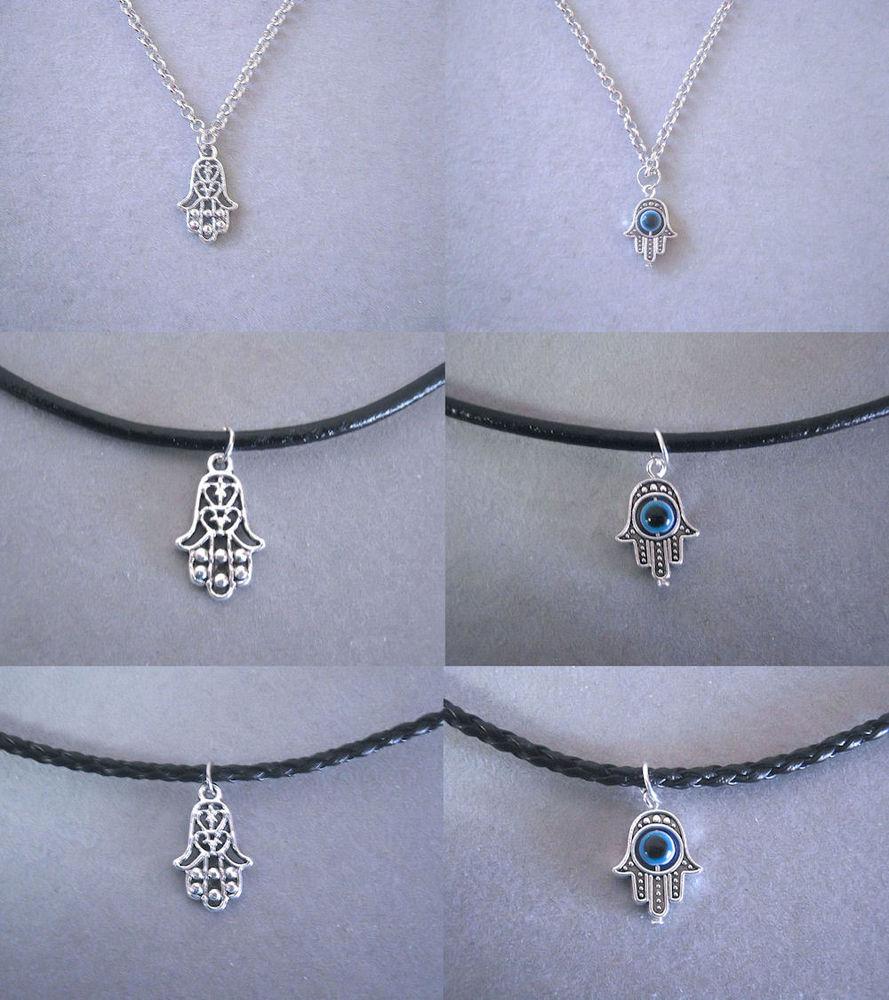 Tibetan Silver Hamsa Hand Evil Eye Protection Necklace   eBay