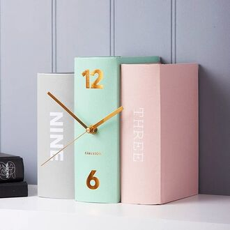 home accessory clock book girly cute