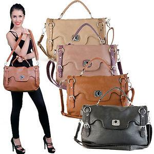 Womens Handbag Tote Purse Faux Leather Designer Handbag Shoulder Bag Fashion | eBay