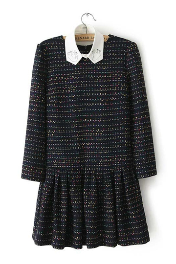 Colorful Polka Dots Frilly Dress with Fake Collar [FXBI00390]- US$34.99 - PersunMall.com