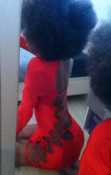dress sexy sexy dress red red dress nappy hairstyles african american afrogirl afro hair afro woman black black girls killin it black girl hair style girly black people backless backless dress