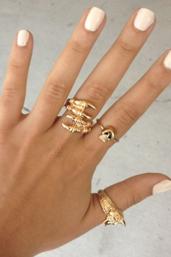 jewels gold skeleton gold ring skeleton claw ring cuff sabo skirt