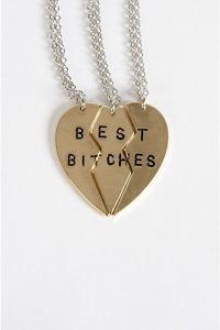 Best Bitches Trio Necklace | eBay
