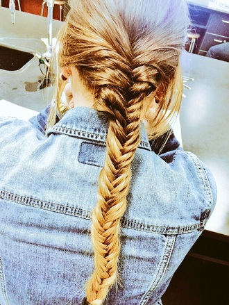 hair accessory ombre fishtail braid