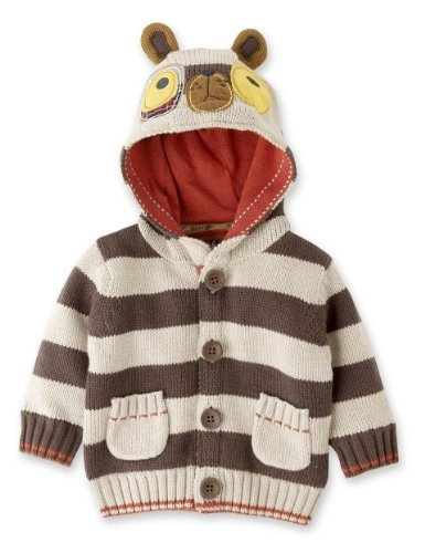 Hooded Dog Appliqué Striped Cardigan - Marks & Spencer