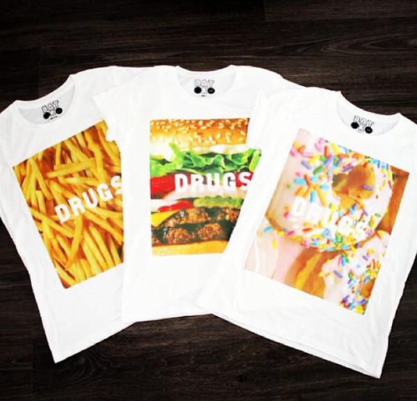t-shirt batoko www.batoko.com fast food fries donut hamburger