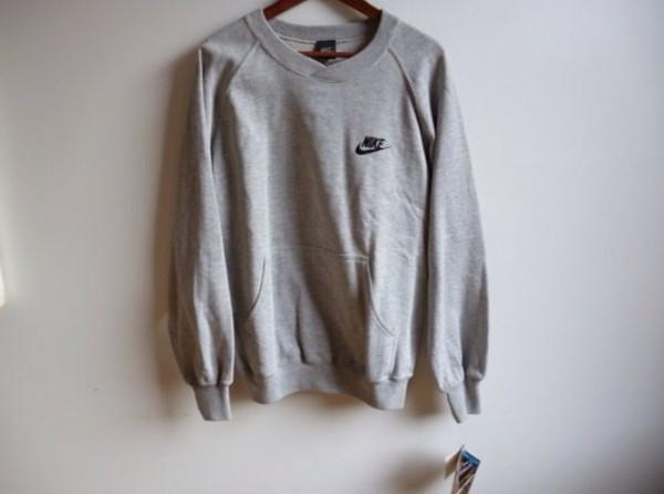 sweater nike grey jumper