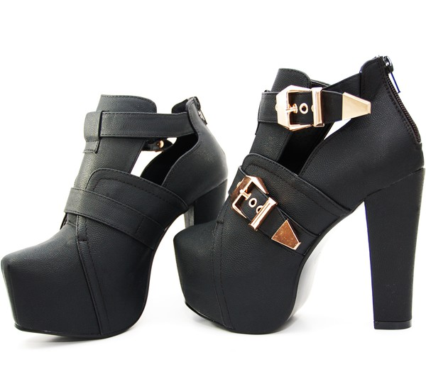 shoes cut-out boots lita platform heels high heels