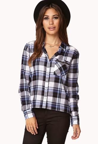 Minimalist Plaid Shirt   FOREVER21 - 2061558909