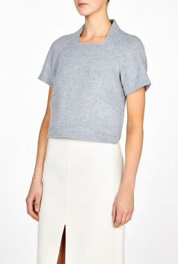 Theyskens' Theory | Fivide Bondy Cropped Structured Top by Theyskens' Theory