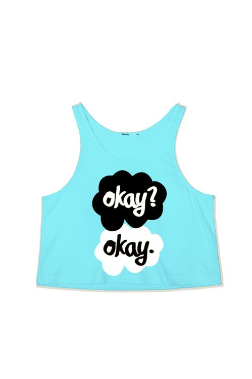 Okay? Okay Crop Tank Top — Kollage