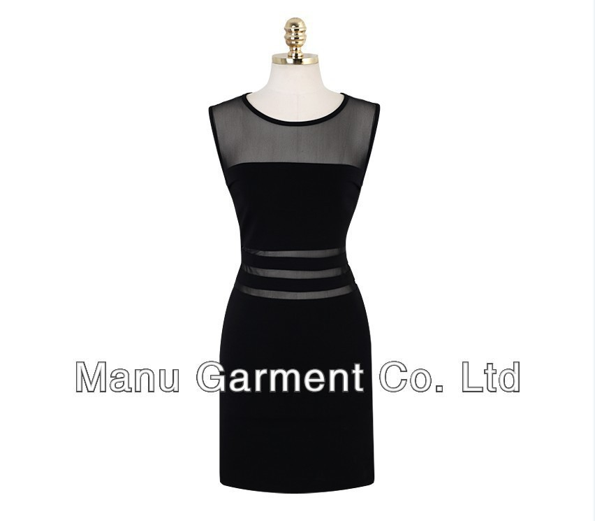 2013 Summer New Fashion Women's Black Sexy See Through Gauze Mesh Patchwork Club Bandage Dresses-in Dresses from Apparel & Accessories on Aliexpress.com