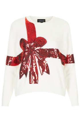 Knitted Sequin Present Jumper - Topshop