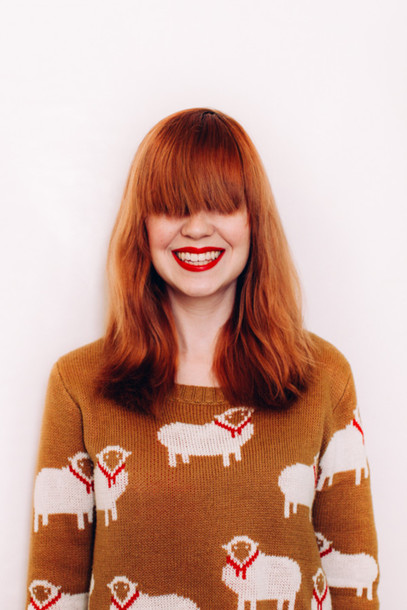 the clothes blogger red hair animal jumper