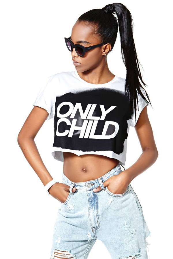 t-shirt nasty gal collection only child tee jeans pants