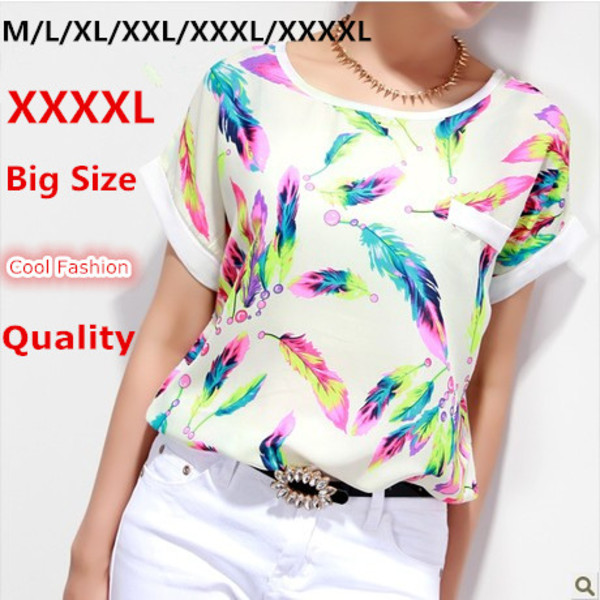 blouse colorful feathers