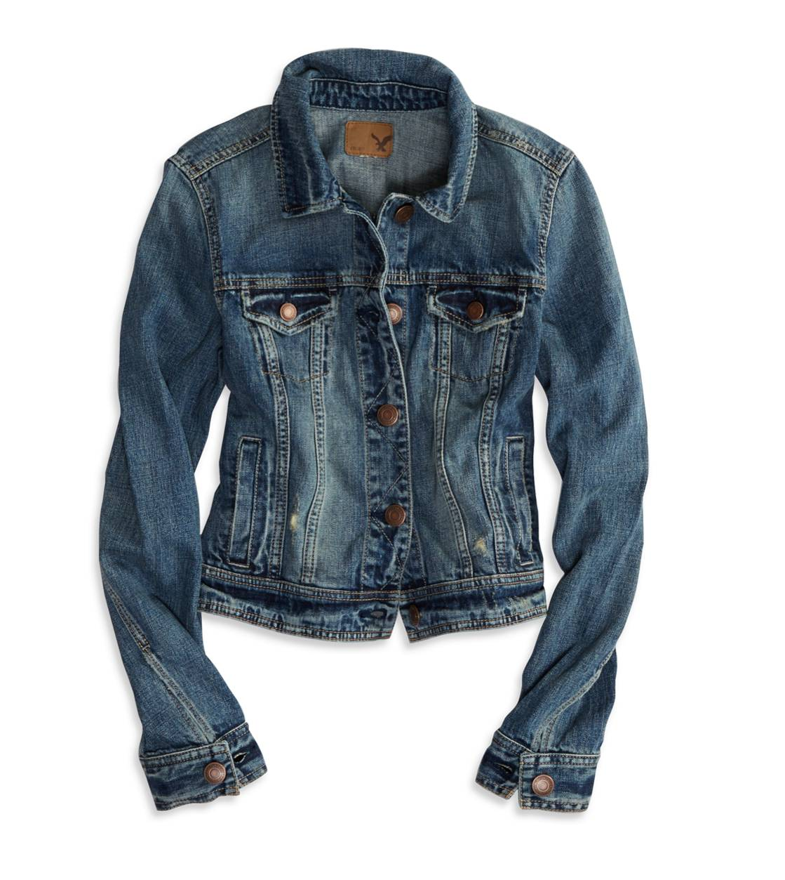 AE Faded Denim Jacket | American Eagle Outfitters