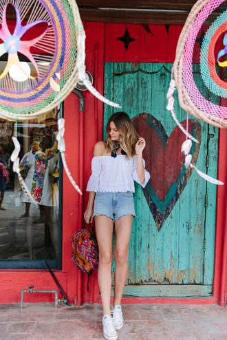 tuula blogger blouse shorts shoes top skirt