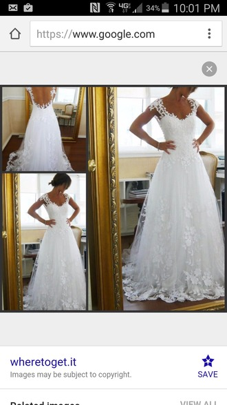 dress white lace cap sleeve sweetheart tulle wedding dress