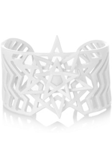 Eddie Borgo Pentagram powder-coated agate cuff - 60% Off Now at THE OUTNET
