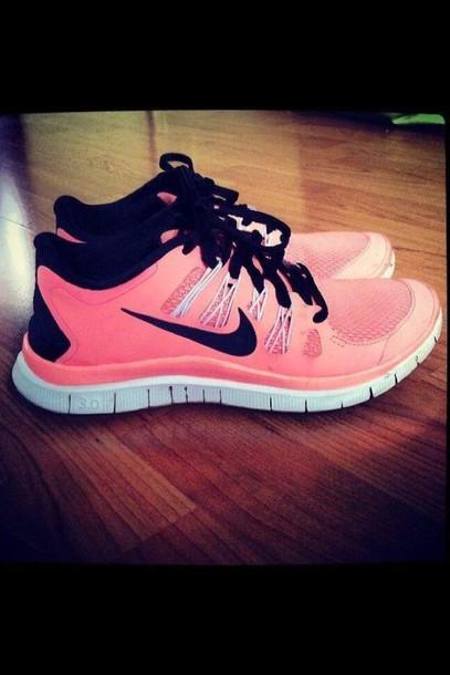 shoes pink shoes nike free run