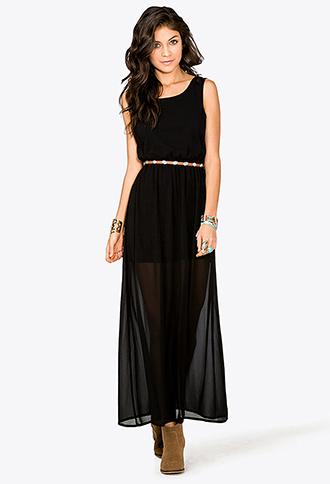 Lace Cutout Maxi Dress | LOVE21 - 2036106057