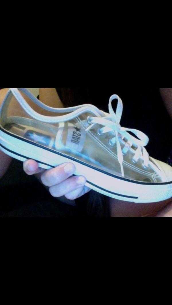 shoes converse transparent white