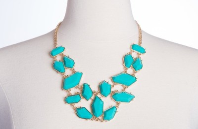 GroopDealz | Lux Lotus Statement Necklace - Polyvore