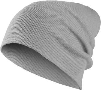 MasterDis Basic Flap Beanie light grey