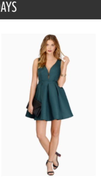 dress dark green dress