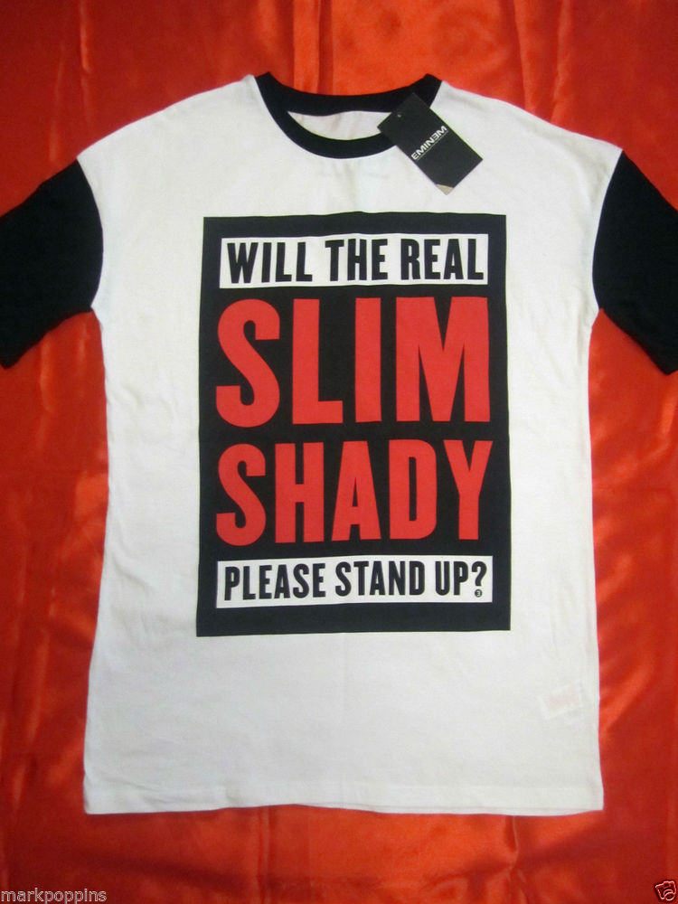 EMINEM WILL THE REAL SLIM SHADY PLEASE STAND UP T-SHIRT OFFICIAL BNWT PRIMARK   eBay