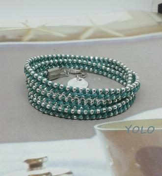 jewels wrap bracelet stacked bracelets friendship bracelet woven bracelet
