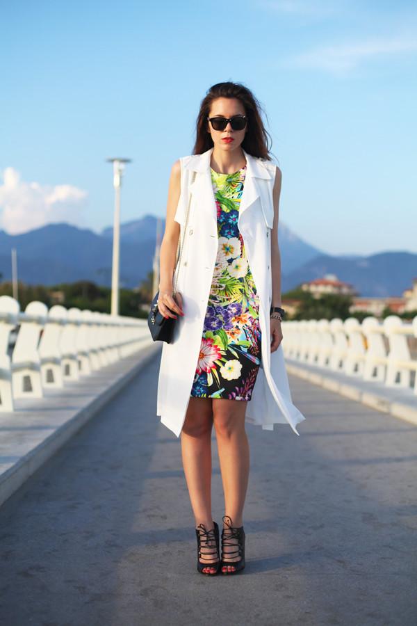 irene closet dress jacket sunglasses shoes bag