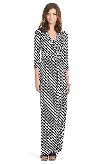 Abigail Long Maxi Wrap Dress | Dresses by DVF