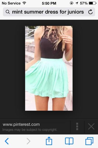 dress mint dress lace top