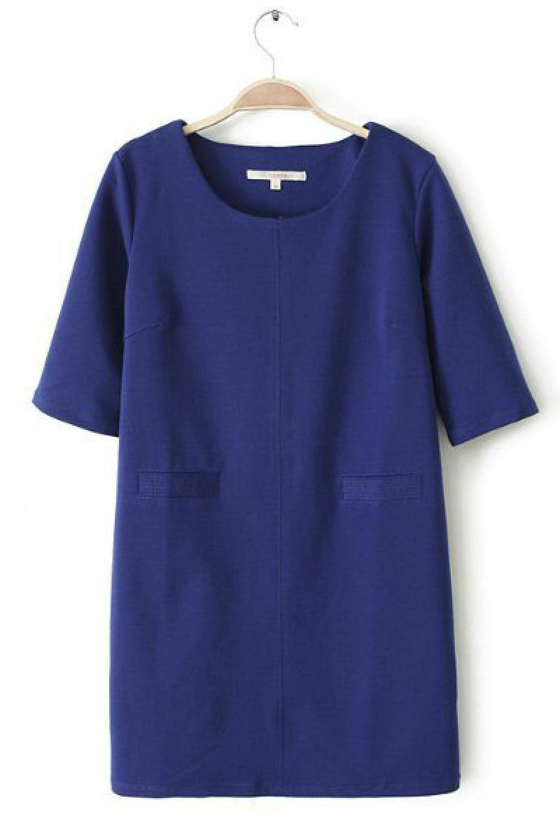 New OL Simple Pockets Short Dress,Cheap in Wendybox.com
