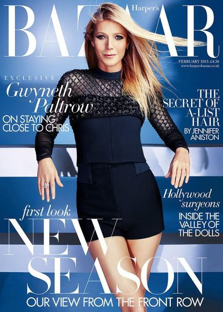 shorts top gwyneth paltrow navy editorial long sleeves