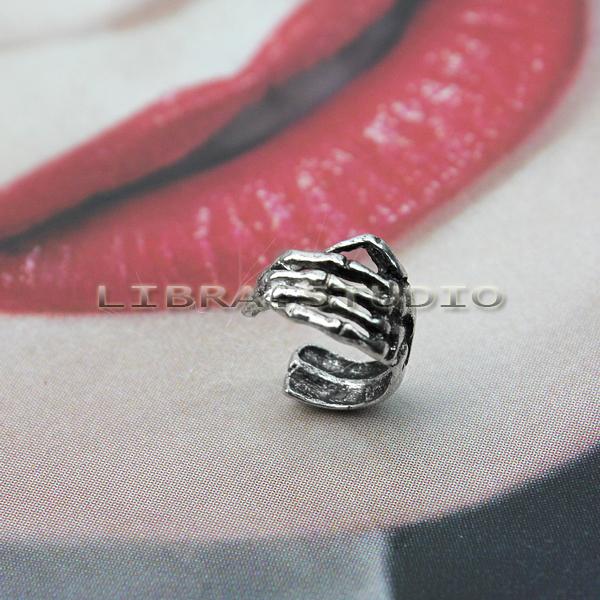 ONE Skeleton Skull Hand EAR Cuff Wrap Cartilage Earring Copper Plating NEW Style | eBay