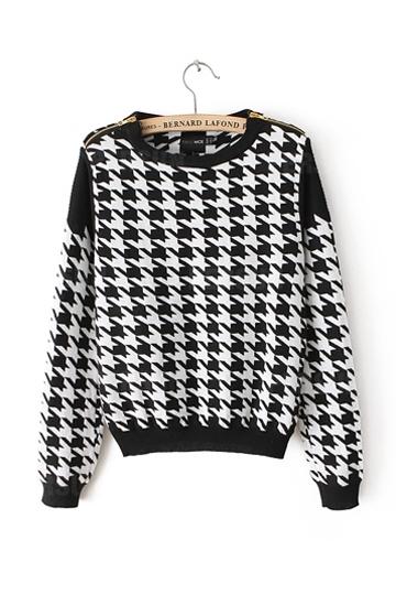 Plover Lattice Knitting Sweater [FKBJ10199] - PersunMall.com