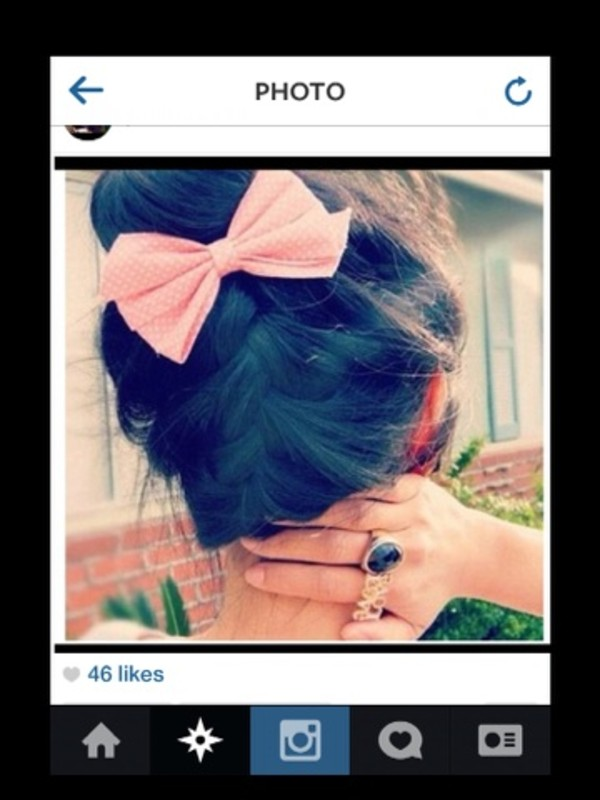 jewels pink hair bow