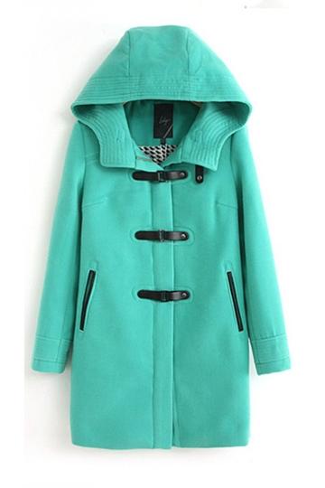 Hooded Buckles Zipper Woolen Coat [FEBK0516]- US$ 66.99 - PersunMall.com