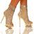 The Highest Heel Diamond 31 Rhinestone Sequin Ankle Bootie Open Toe | eBay