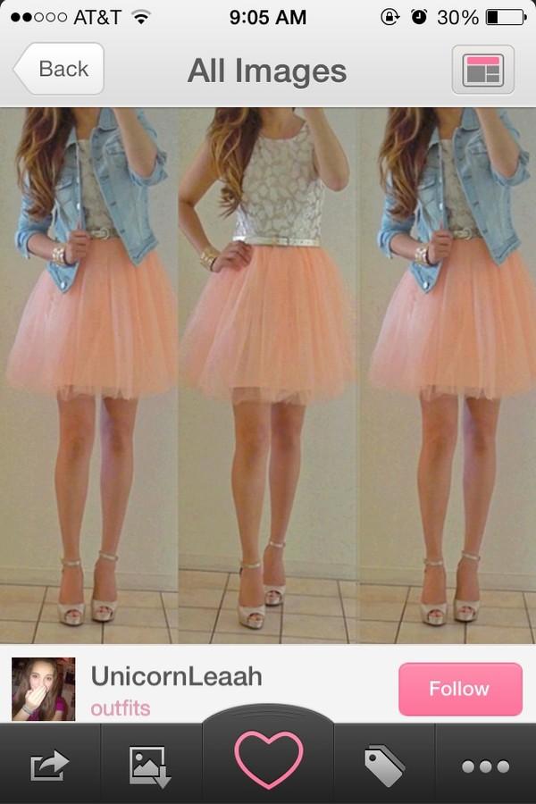 shirt skirt belt top jacket dress shoes