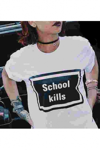 t-shirt back to school black and white white casual cool funny quote on it beautifulhalo