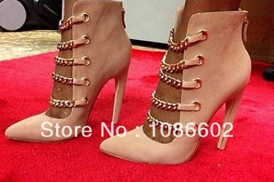 2014 Newest Designer Sandals Cut Out High Heel Chain Sandals Big Size 4 5 6 7 8 9 10 11-in Pumps from Shoes on Aliexpress.com