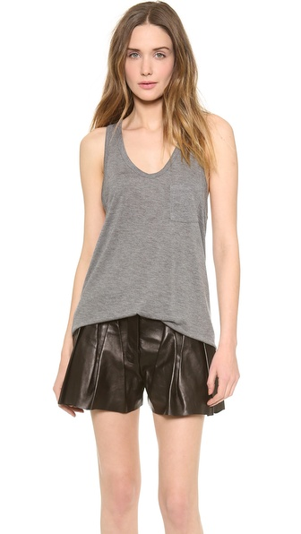 T by Alexander Wang Classic Tank with Pocket   SHOPBOP