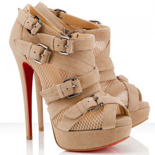 Hot Sale Christian Louboutin Mad Marta 150mm Ankle Boots Beige Sale Online UK Online