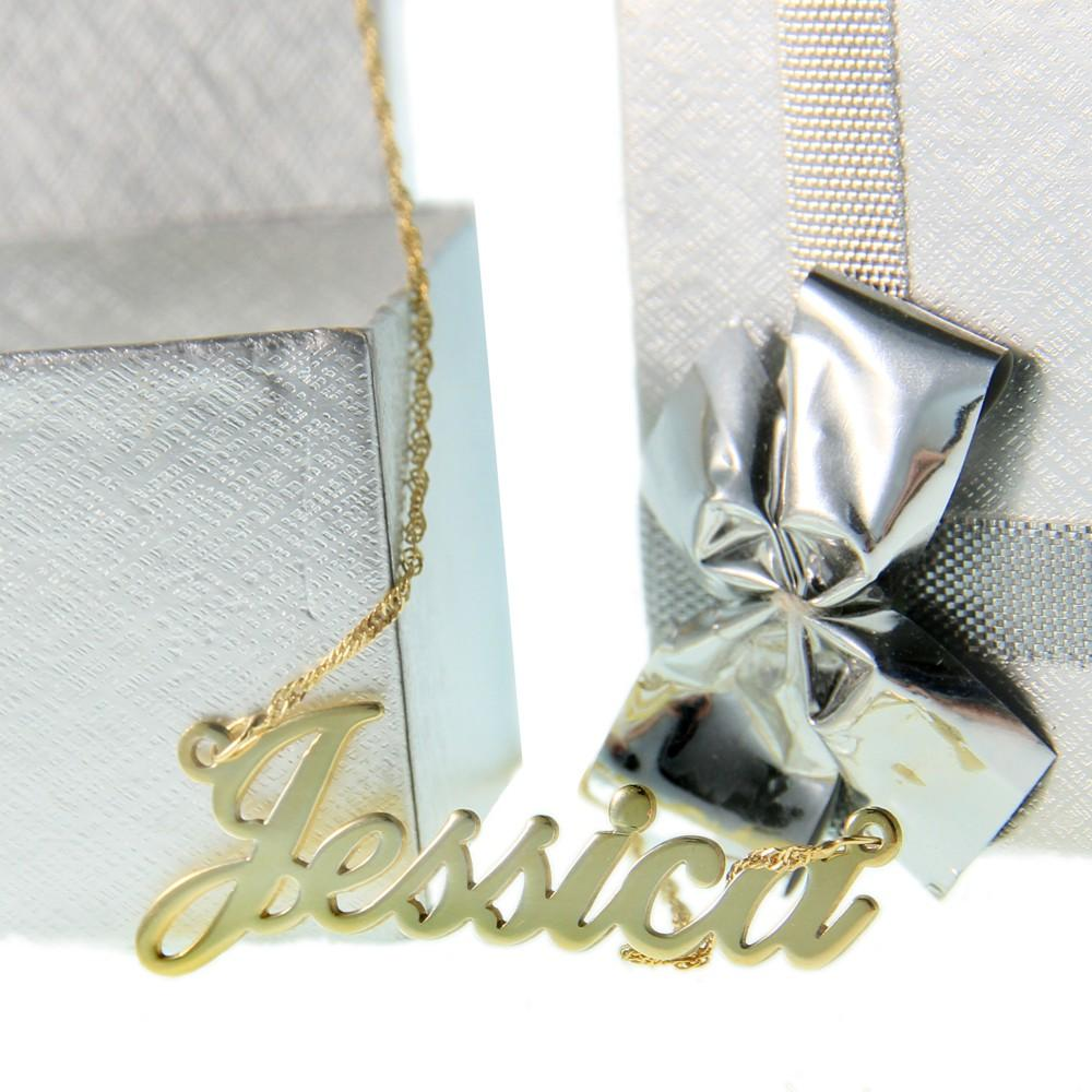24K Gold Plated Alegro Name Necklace - Onecklace